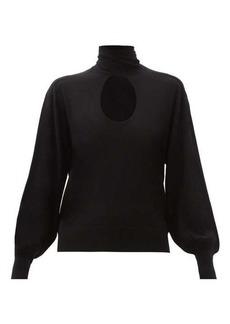 Chloé Cutout-neck wool sweater