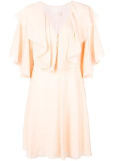 Chloé deep frill dress - Nude & Neutrals