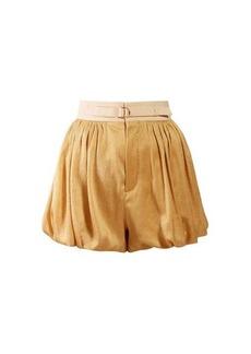 Chloé Dégradé puffed-hem silk-blend shorts