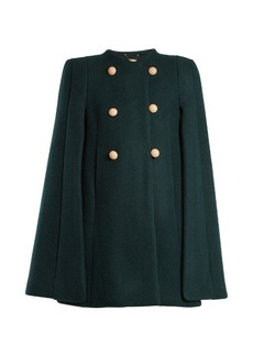 Chloé Double-breasted wool-blend cape