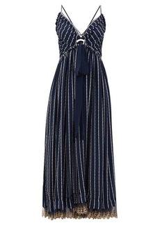 Chloé Double-strap silk-blend crepe dress