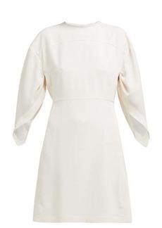 Chloé Draped-sleeve crepe mini dress