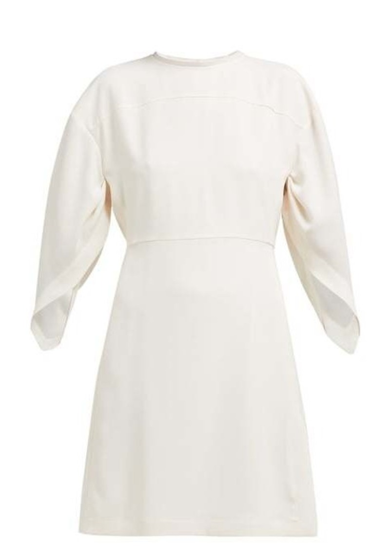 Chloé Draped-sleeve crepe mini dress