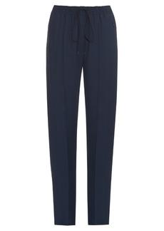 Chloé Drawstring-waist cady track trousers