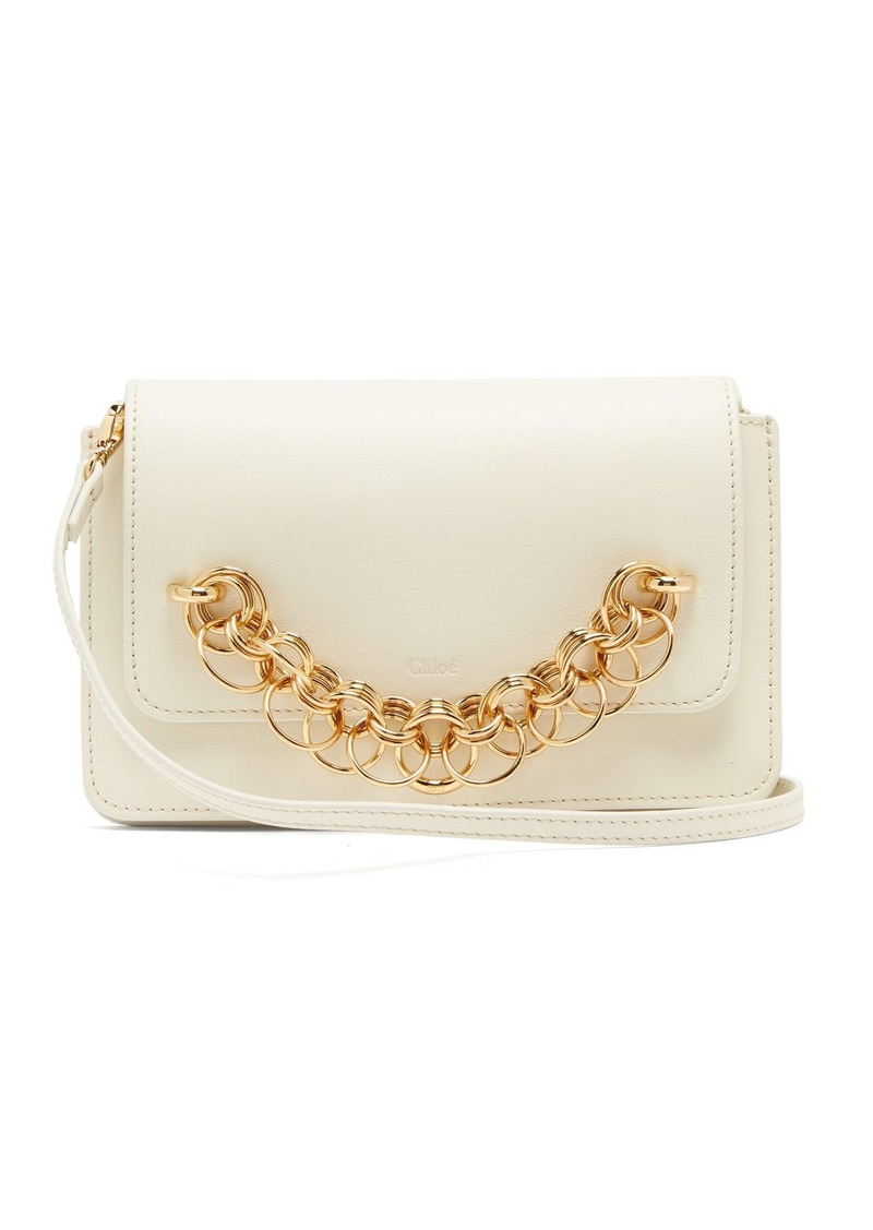 Chloé Drew Bijou leather clutch bag