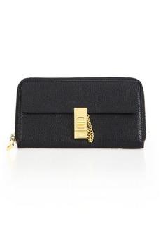 Chloé Drew Long Zip Leather Wallet