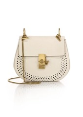 Chloé Drew Small Perforated Leather Saddle Crossbody Bag