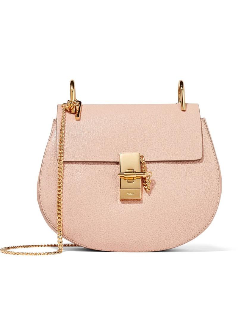 fcf62fe0077c2 Chloé Drew small textured-leather shoulder bag   Handbags
