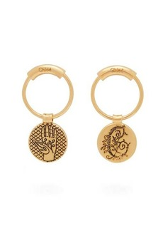 Chloé Emoji coin-charm earrings