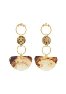 Chloé Emoji shell-drop earrings