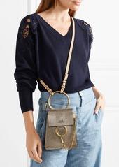 ecd6714eddb Chloé Chloé Faye Bracelet mini metallic cracked-leather shoulder bag ...