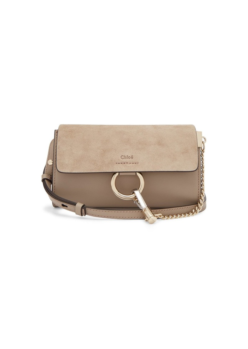 7b55efeb Faye mini leather and suede cross-body wallet bag