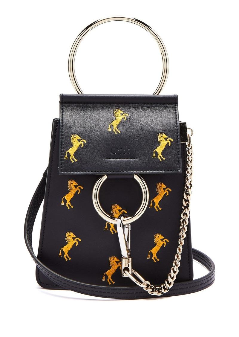 2710aac029f4 SALE! Chloé Chloé Faye mini Little Horses embroidered bag
