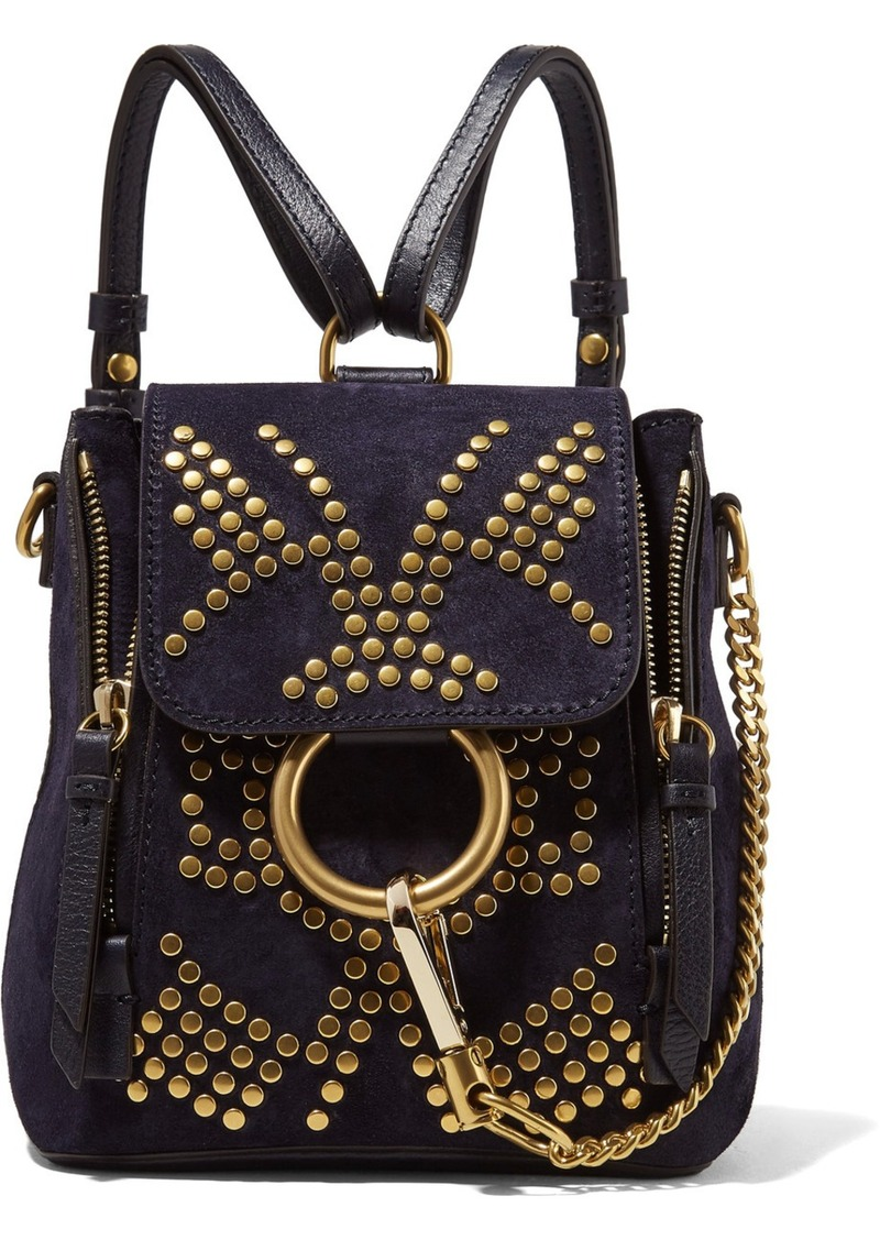 832e139daa7ff Chloé Chloé Faye mini studded suede and leather backpack | Handbags