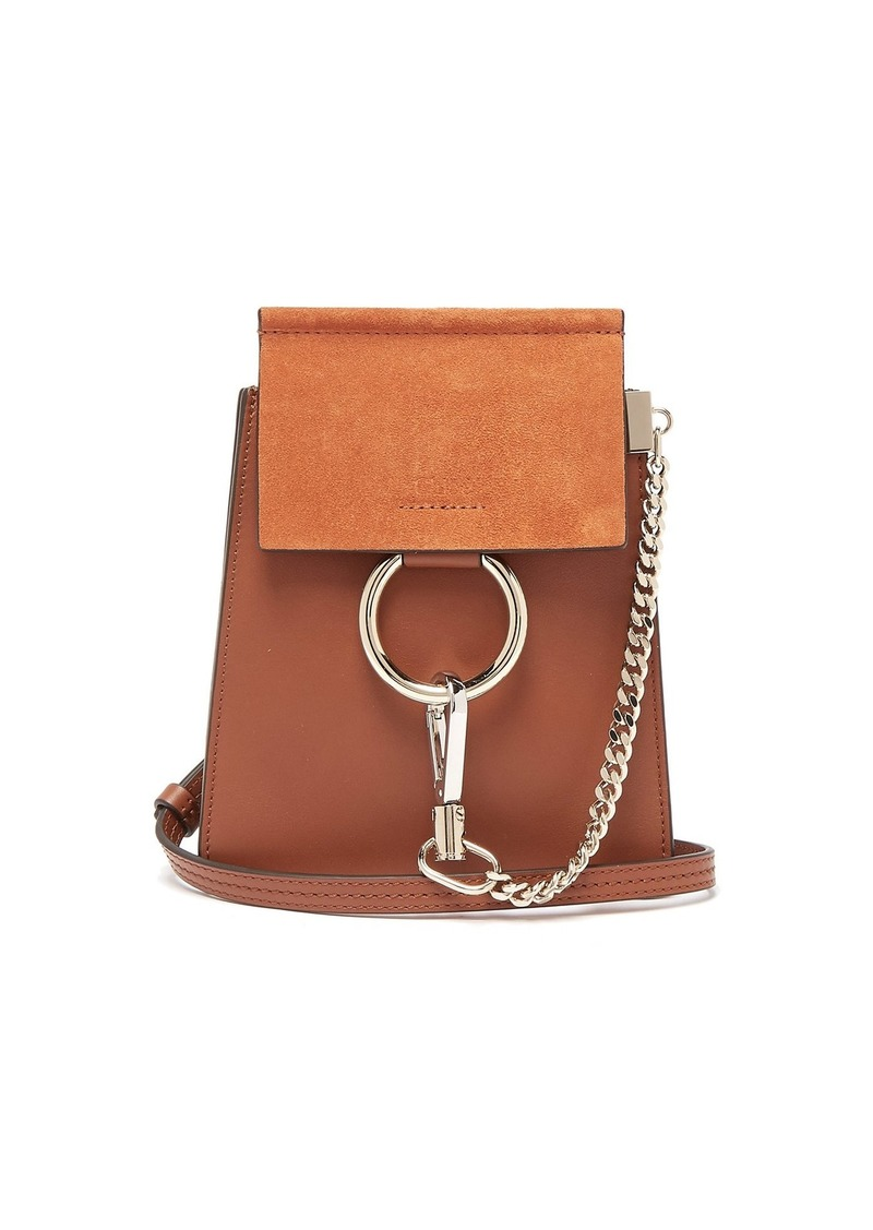 5ef854a68b Chloé Chloé Faye mini suede-panel leather cross-body bag | Handbags