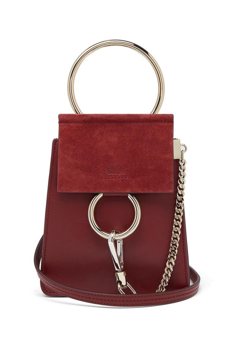 447804ce0a Chloé Chloé Faye mini suede-panel leather cross-body bag