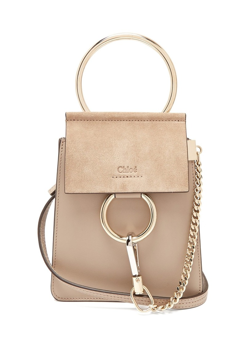 5c8fea176 Chloé Chloé Faye mini suede-panel leather cross-body bag | Handbags