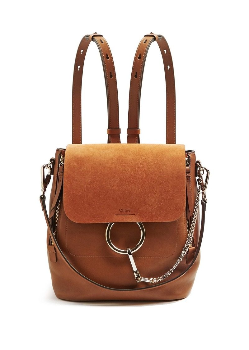 1b0d17d13c Chloé Chloé Faye small suede and leather backpack