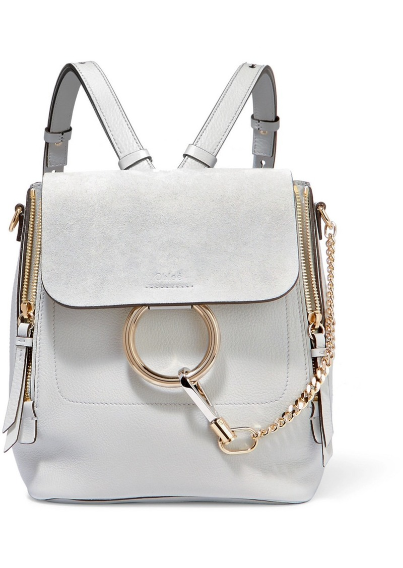 On Sale today! Chloé Faye small textured-leather and suede backpack 9a567c2621047