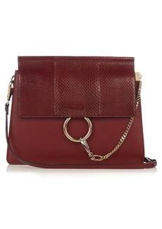 Chloé Faye snakeskin and leather shoulder bag