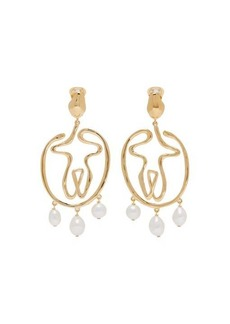 Chloé Femininities pearl-drop earrings
