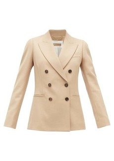 Chloé Festive double-breasted wool-blend twill jacket