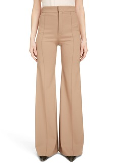 Chloé Flare Leg Stretch Wool Pants