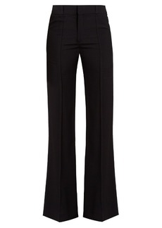 Chloé Flared-leg wool-crepe trousers