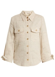 Chloé Flecked cotton-blend shirt