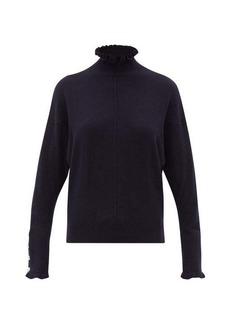 Chloé Flounced-edge high-neck cashmere sweater