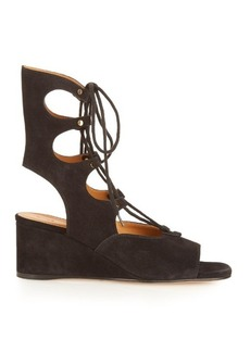 Chloé Foster lace-up wedge sandals