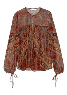 Chloé Foulard-print sheer silk blouse
