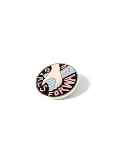 Chloé Frankie Girls Forward lacquered metal pin