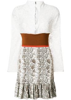 Chloé frill trimmed dress - Multicolour