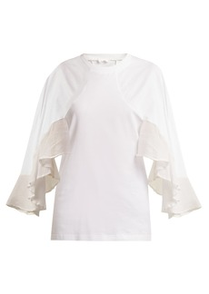 Chloé Frilled cotton top