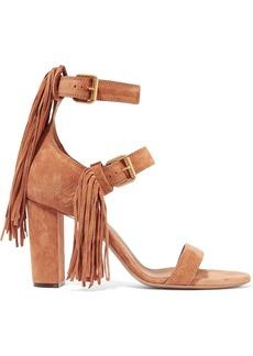Chloé Fringe-trimmed suede sandals