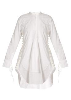 Chloé Grandad-collar cotton-voile dress