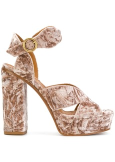 Chloé Graphic leaves plateau sandals - Nude & Neutrals