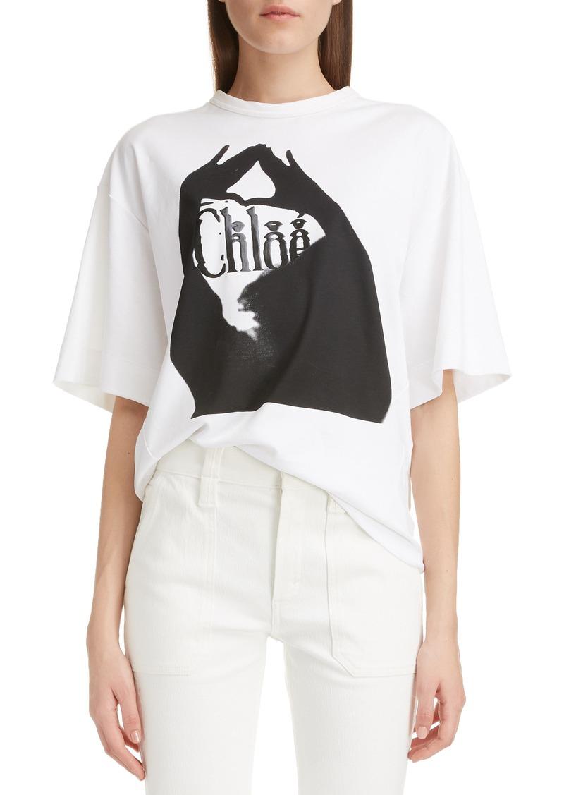 Chloé Graphic Logo Oversize Tee