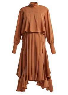 Chloé Handkerchief-hem silk crepe-de-Chine dress