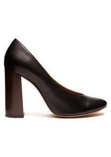 Chloé Harper block-heel leather pumps