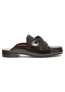 Chloé Harper lace-up leather backless loafers