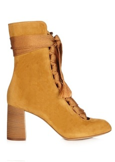 Chloé Harper lace-up suede ankle boots
