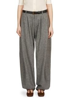 Chloé Herringbone Wool Tweed Pants