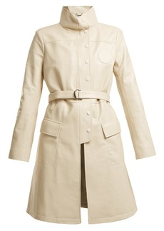 Chloé High-neck belted leather jacket