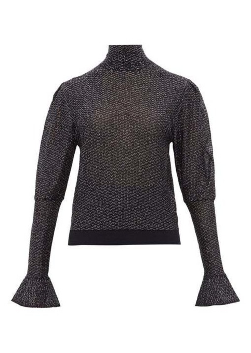 Chloé High-neck lamé-knit top