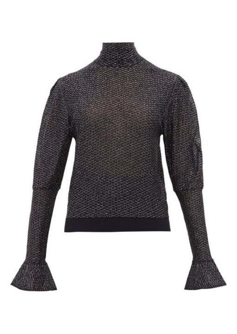 Chloé High-neck lamé-knit top