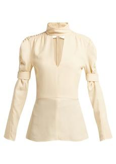 Chloé High-neck silk-blend blouse