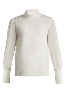 Chloé High-neck silk blouse