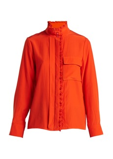 Chloé High-neck silk shirt